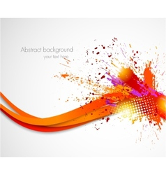 Abstract grunge wavy background vector image vector image