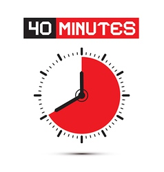 Forty Minutes Watch - Clock vector image