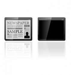 generic tablet pc vector image