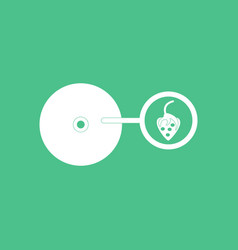 icon on background music plate and strawberry vector image
