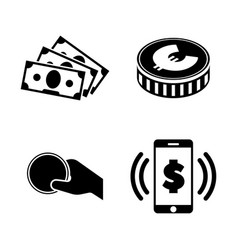 money simple related icons vector image