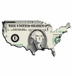 usa dollar vector image vector image