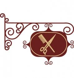 vintage barber sign post vector image vector image
