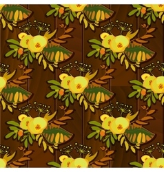 yellow floral pattern vector image vector image