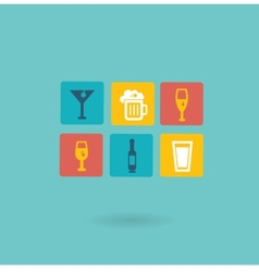 alcoholic drinks icon vector image vector image