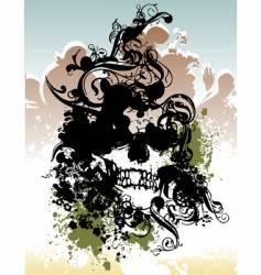punk skull illustration vector image