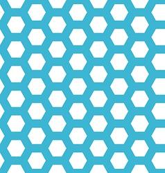 seamless blue hexagon pattern vector image vector image