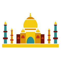taj mahal famous culture indian architecture vector image