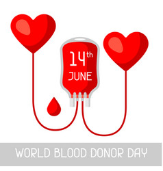 14t june world blood donor day medical and vector image