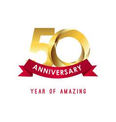 50 year anniversary year amazing template vector