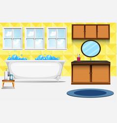 A bathroom interior background vector