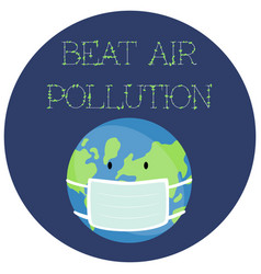 A sticker for world environment day vector
