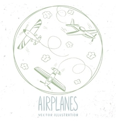 aircraft line vector image