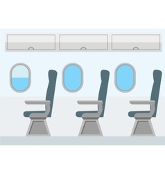 Airplane Transport Interior Jet for Travel vector image