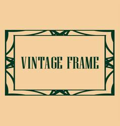 art deco frame vector image