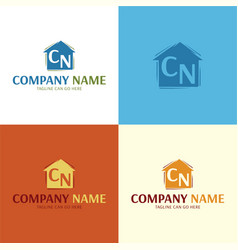 artistic house logo and icon vector image