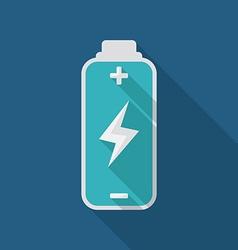 Battery energy design vector image