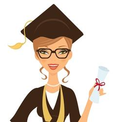 Beautiful graduate vector image
