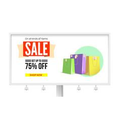 billboard with advertising of sales get discount vector image