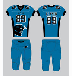 Blue black panther mascot american football jersey vector