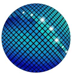 Blue mosaic ball vector image