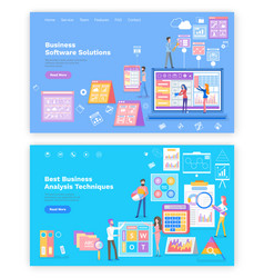 business software solution analysis techniques vector image