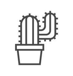 Cactus Line Icon vector