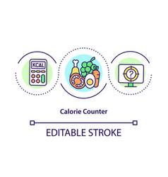 Calorie counter concept icon vector