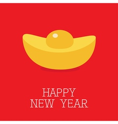 Cinese New Year symbol atribute Gold Ingot Golden vector