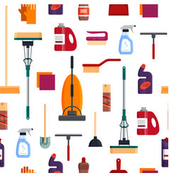 cleaning service seamless pattern house cleaning vector image