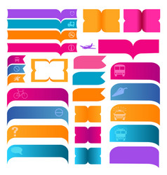 Colorful banner with logo on white background vector