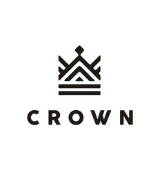 Crown throne king queen royal premium classic logo vector