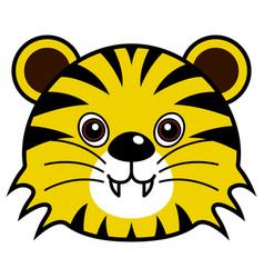 Cute tiger animal faces vector