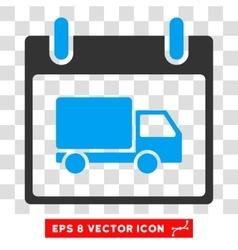 Delivery Car Calendar Day Eps Icon vector