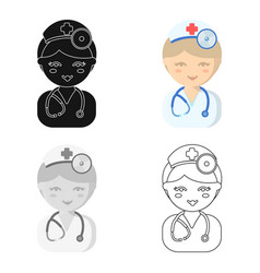 Doctor cartoon icon for web and vector