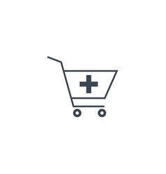 Drugstore shopping related glyph icon vector