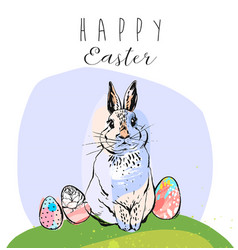 easter sale banner or print with cute hand drawn vector image