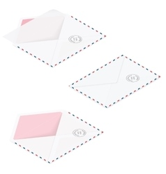 Envelopes detailed isometric icon set vector image