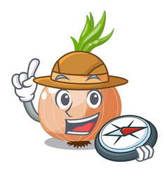 Explorer fresh onion isolated on the mascot vector