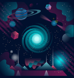 futuristic and abstract cosmos background vector image