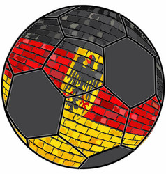 Germany flag with soccer ball background vector