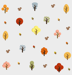 hello autumn autumn trees background vector image