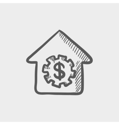 House online payment sketch cion vector