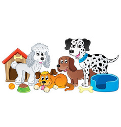 Image with dog topic 4 vector