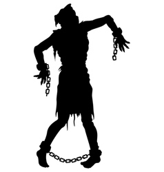 Inquisition executed zombie silhouette vector