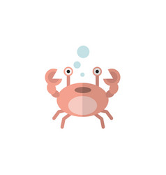 Isolated crab flat icon cancer element can vector