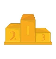 Isolated gold podium design vector