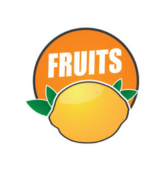logo fruit natural product and healthy food vector image