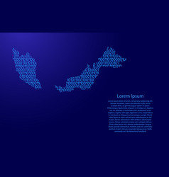 malaysia map abstract schematic from blue ones vector image