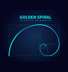 Mathematics formula of fibonacci spiral golden vector